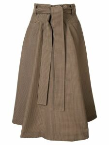 MSGM tie waist skirt - Brown