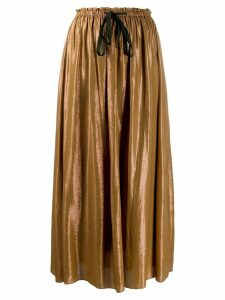 Forte Forte metallic high-rise skirt - Gold