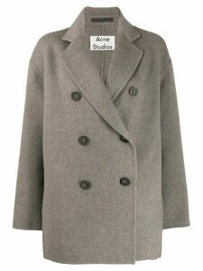 Acne Studios short double-breasted coat - Grey