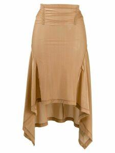 Charlotte Knowles sheer pull-on skirt - Brown