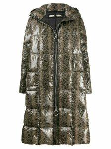 Ienki Ienki Pyramide snakeskin-print padded coat - Grey