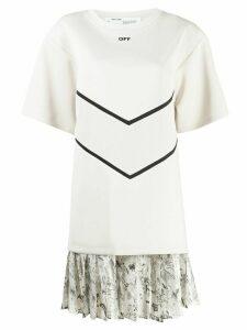 Off-White intarsia T-shirt dress - NEUTRALS