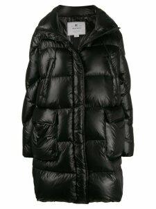 Woolrich concealed zip up down coat - Black