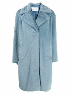 STAND STUDIO faux fur midi coat - Blue