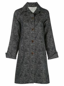 Peter Cohen single-breasted embroidered coat - Black