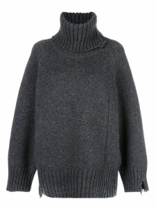 Maison Margiela ribbed roll neck jumper - Grey