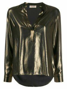 Blanca V-neck blouse - Gold