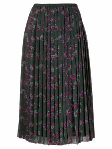 Kenzo Passion Flower pleated skirt - Green