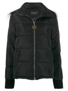 Frankie Morello padded embellished coat - Black