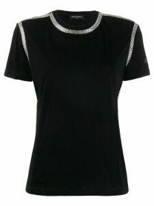 Frankie Morello rhinestone-trimmed crew-neck T-shirt - Black