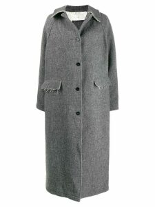 Kassl Editions unfinished-pockets single-breasted coat - Grey