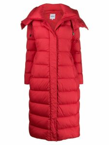 Aspesi long hooded down coat - Red