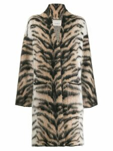 Laneus tiger pattern coat - Neutrals