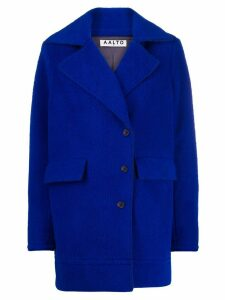 Aalto off-center button coat - Blue
