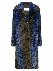 Stand Studio faux fur coat - Blue