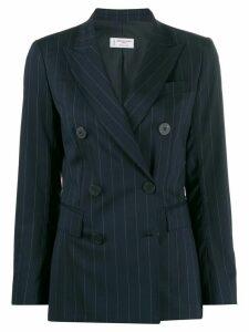 Alberto Biani pinstriped blazer - Blue