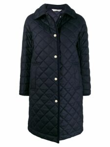 Mackintosh RHYNIE Navy Quilted Wool Coat LQ-1004 - Blue