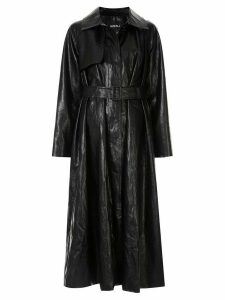 Goen.J vintage croc-effect trench coat - Black