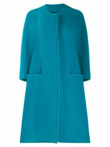 Gianluca Capannolo collarless cocoon coat - Blue