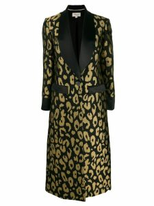 Temperley London Josie leopard-jacquard coat - Black