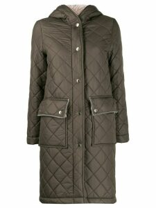 Mackintosh GRANGE Taupe Quilted Hooded Coat LQ-1001 - Green