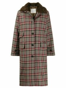 Mackintosh FORFAR Brown Check Virgin Wool Coat LM-1001F/FUR