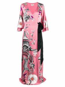 Temperley London Euphoria Chinoiserie-print wrap dress - PINK