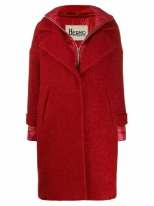 Herno layer effect notched lapels coat - Red
