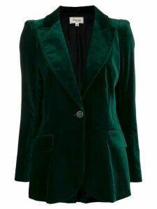 Temperley London Clove velvet single-breasted blazer - Green