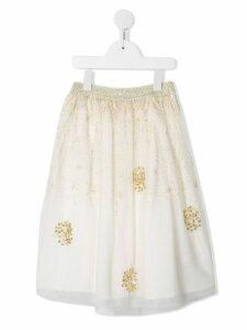 Billieblush tulle beaded petticoat skirt - White
