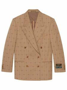 Gucci Retro GG blazer - Neutrals