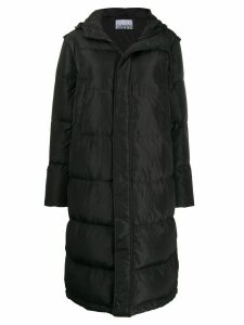 Ganni oversized padded coat - Grey