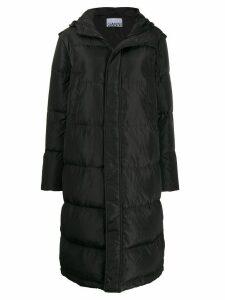 GANNI oversized padded coat - Grey