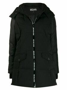 Michael Michael Kors padded logo sport coat - Black