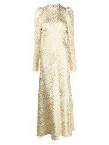 Temperley London Sunset leopard-jacquard dress - NEUTRALS