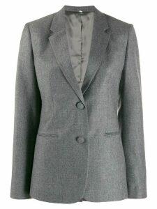 Helmut Lang flannel shrunken blazer - Grey