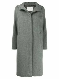 Mackintosh CHRYSTON Light Grey Storm System Wool Hooded Coat