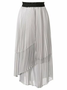 Frei Ea pleated asymmetric skirt - Grey