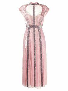 Temperley London Electra bead-embellished dress - Pink