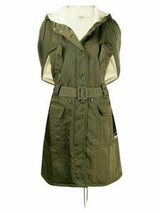 Miu Miu short sleeved belted trench coat - Green