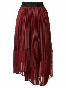 Frei Ea pleated asymmetric skirt - Red
