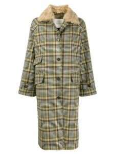 Mackintosh houndstooth check coat - Grey