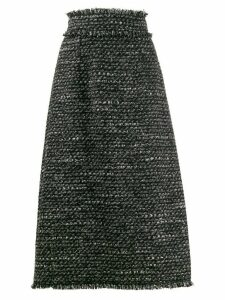 Dolce & Gabbana woven A-line midi skirt - Black