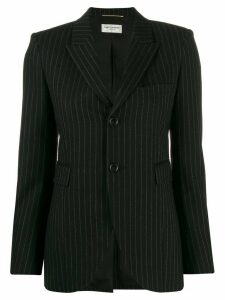 Saint Laurent fitted pinstripe blazer - Black