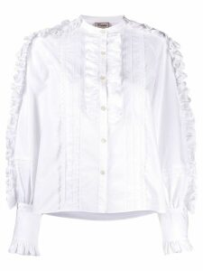 Temperley London Jade folded-ruffle shirt - White