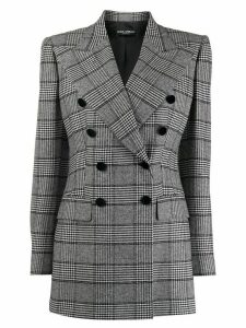 Dolce & Gabbana Glen plaid double-breasted blazer - Black