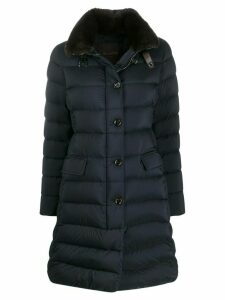 Moorer quilted mid-length coat - Blue