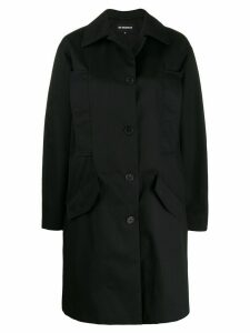 Ann Demeulemeester single breasted coat - Black