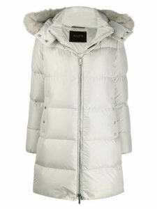Moorer hooded down coat - Neutrals