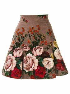 Dolce & Gabbana floral-print A-line skirt - Purple